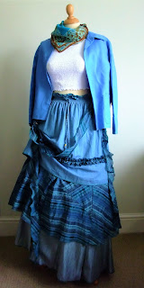 quirky tiered denim skirt by karen vallerius