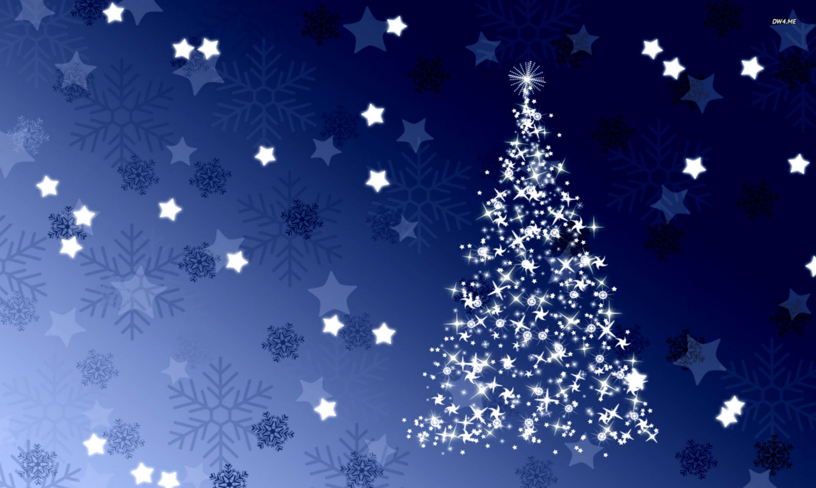 Sparkling blue Christmas tree wallpaper Holiday wallpapers 2047