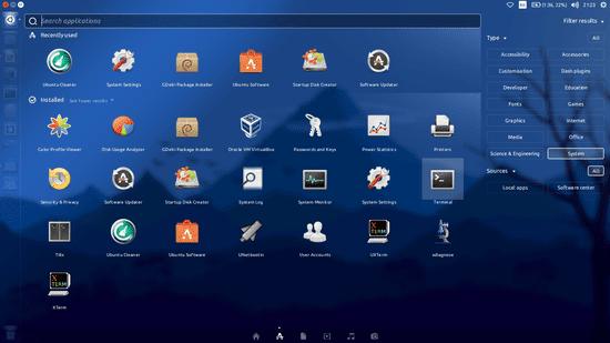 Buka Terminal Pada Ubuntu Dengan Melakukan Navigasi Pada Dash