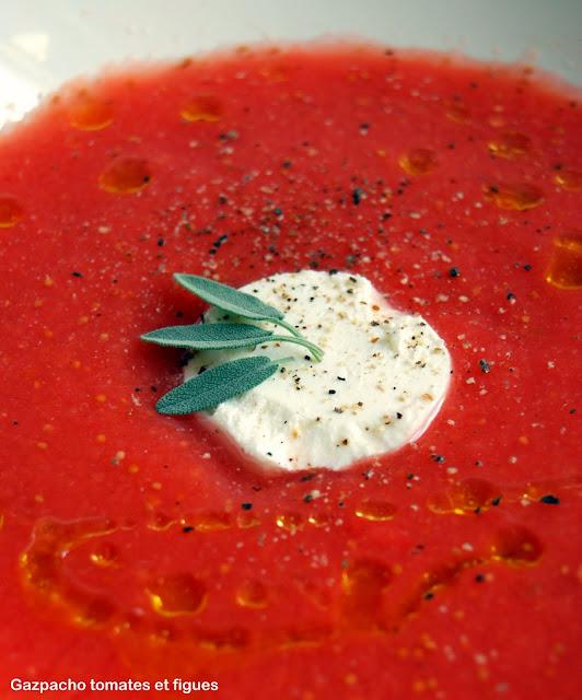 Gaspacho de tomates et de figues