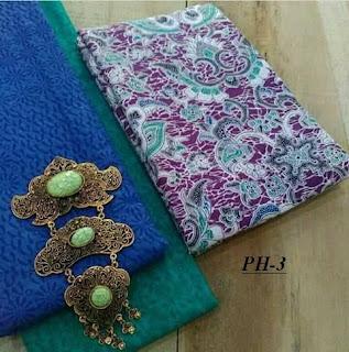 Kain batik adem motif solo warna cerah