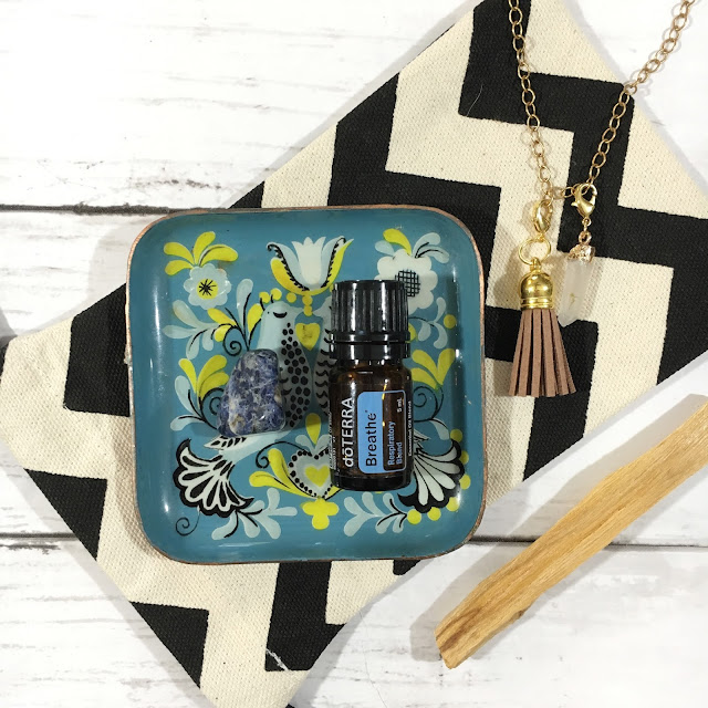 Sodalite Crystal with Doterra Breathe
