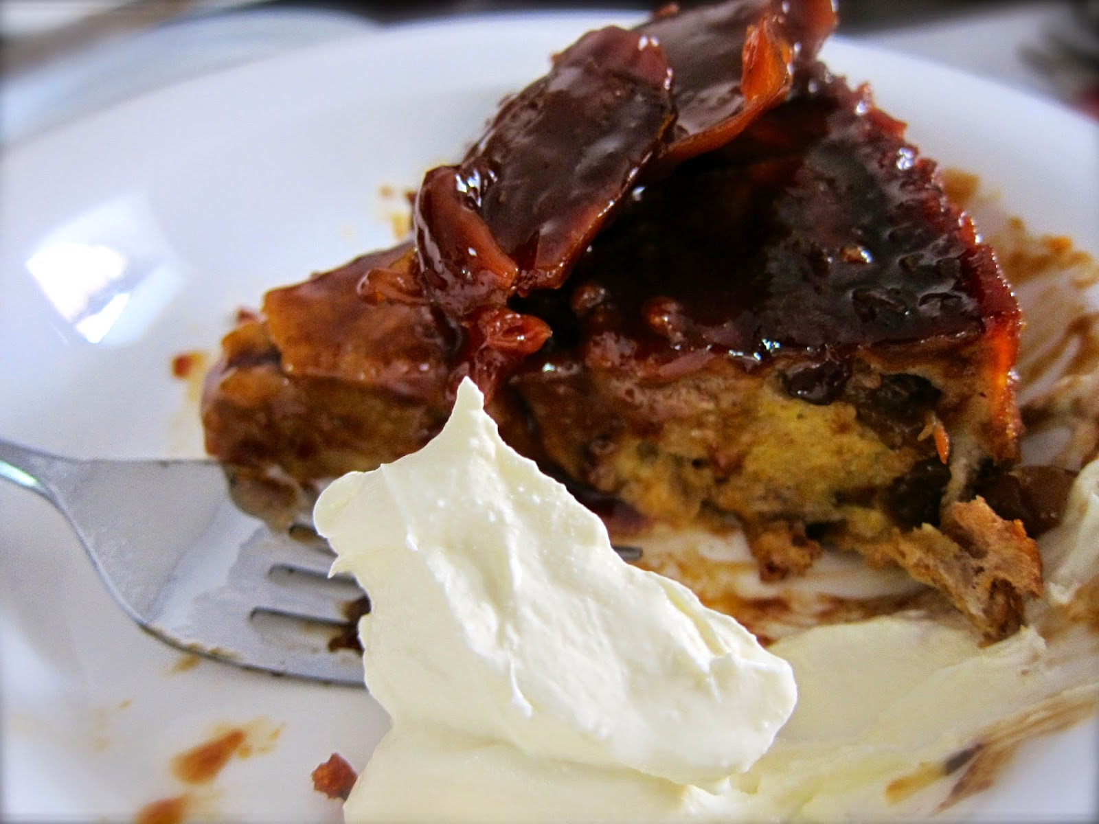 salted car male bread pudding serve with mascarpone