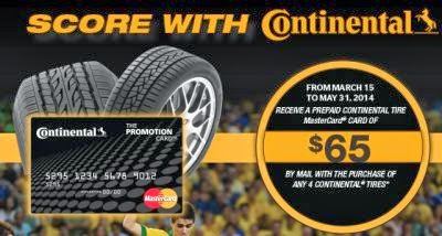 to 8 weeks for Prepaid Card delivery. Above rebates are on a set of four tires. If your vehicle requires six tires, rebates are available on a prorated basis for the two additional tires. The prorated rebate amount, per additional tire, is 25% of the rebate amount listed above. The minimum purchase.