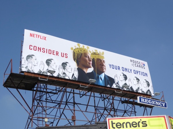 House of Cards Consider us your only option Emmy billboard