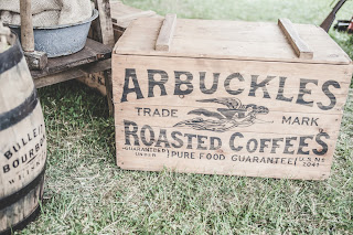 Coffee, trademark, old box