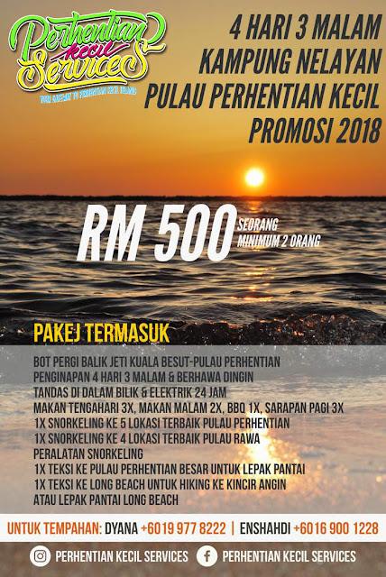 pakej kampung nelayan perhentian 2019 , pakej perhentian 2018