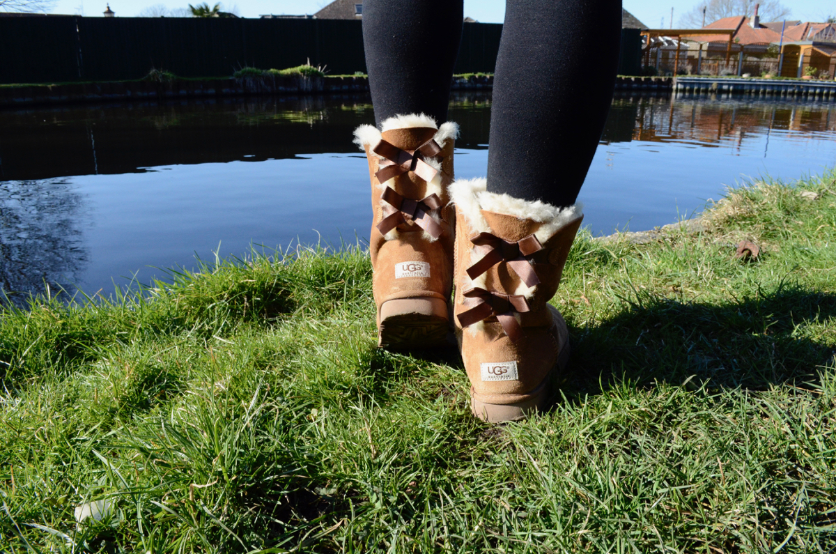 UGG Boots With Bow Detail on the Back