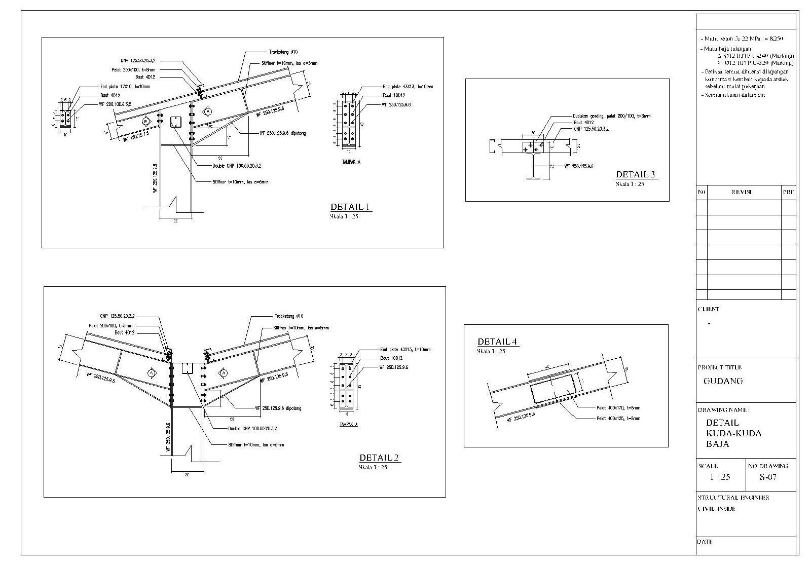 Civil Inside Design Konstruksi Gudang Dengan Baja Berat