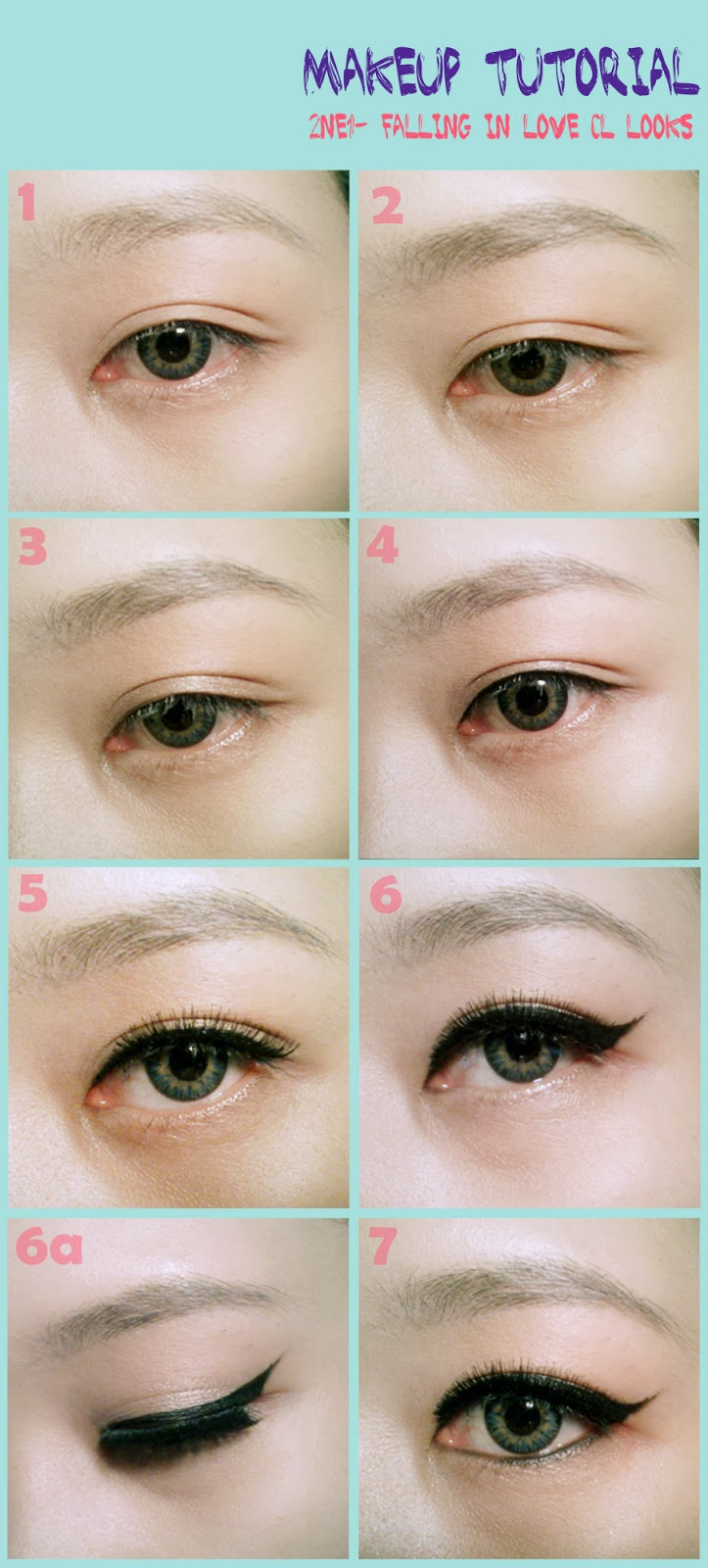 Eyeliner Tutorial: THESORBETJOURNEY: 2NE1 Falling In Love Makeup Tutorial