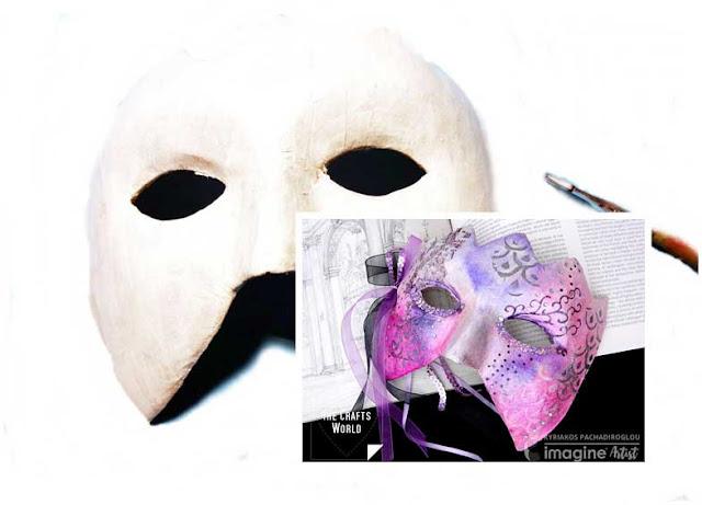 Mascara de carnaval con papel mache. Hazte una rapidamente