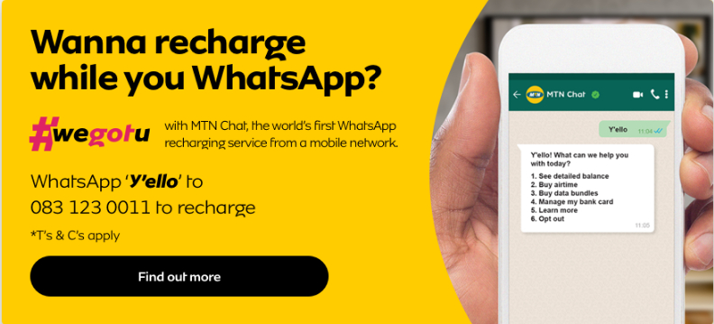 MTN Recharge over Whatsapp #wegotu - Fibman Software - FIBMAN SOFTWARE