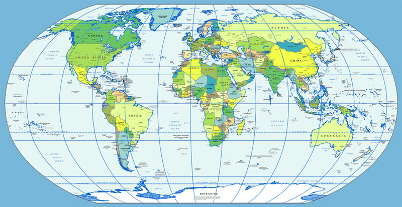 image: CIA Political Map of the World