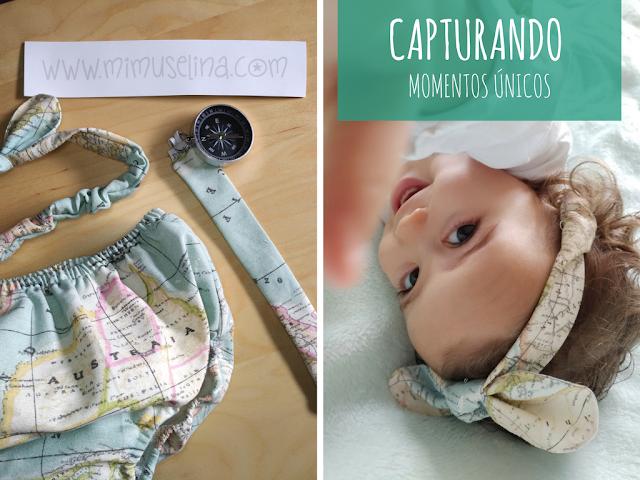 Pirata Baby Cubrepañal Cinta Turbante Sujeta chupete Mimuselina