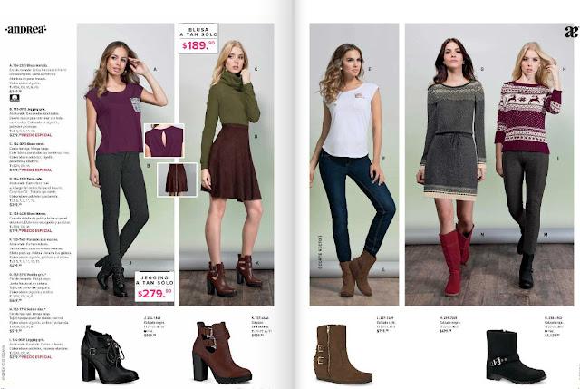 Catalogo de ropa Andrea 2016 primavera  mexico