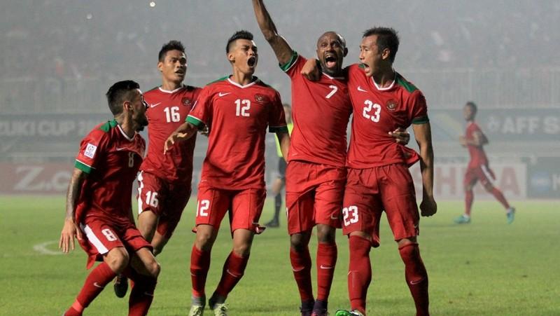 Timnas Indonesia saat berlaga di AFF Cup 2016