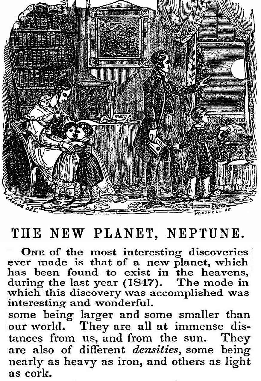 """The New Planet Neptune"", from an 1848 news article with illustration"