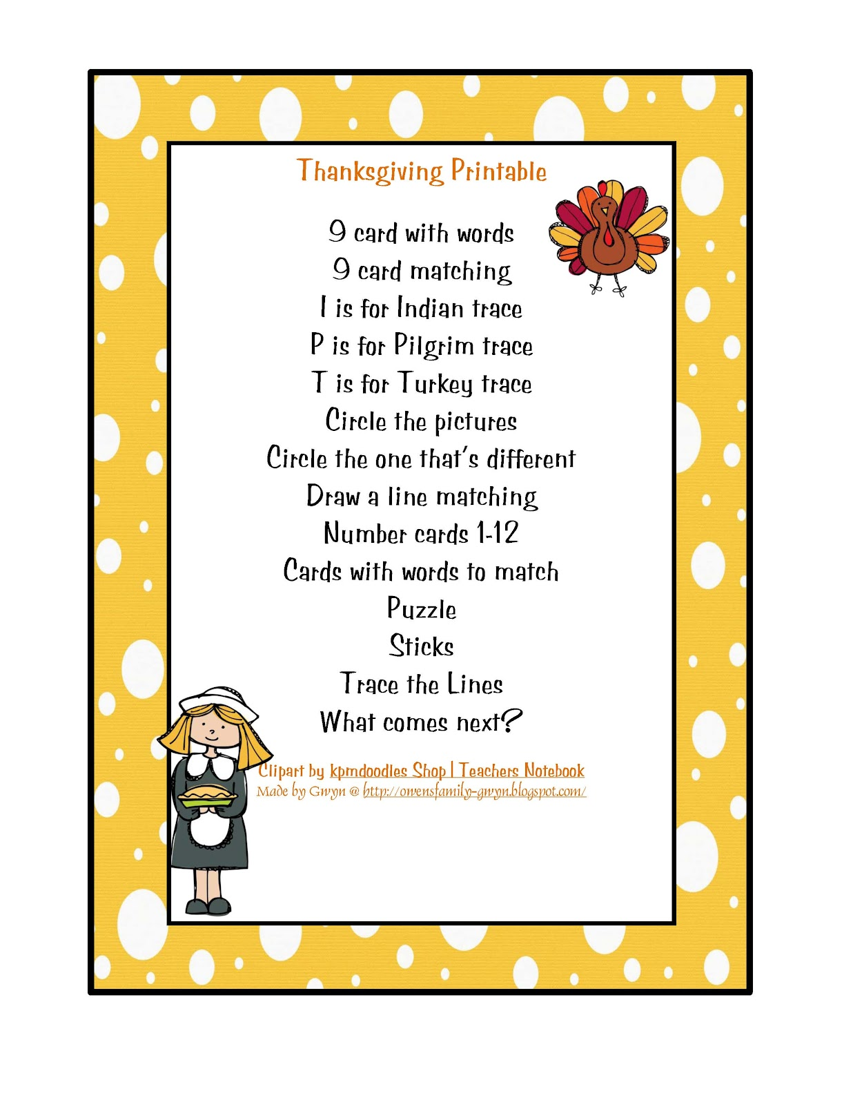 Preschool Printables May