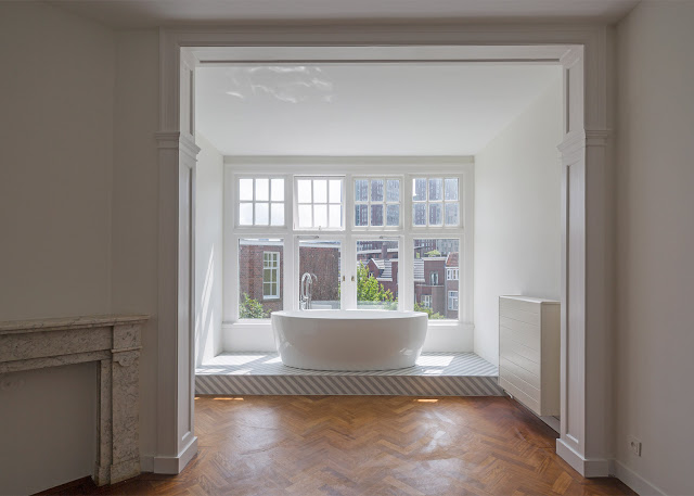 Herringbone Parquet Was Used In This Dutch Townhouse Renovation By Antonia Reif 7