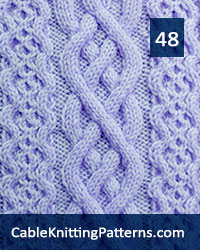 Cable Knitting 48.Skill Level: Intermediate knitter and up.