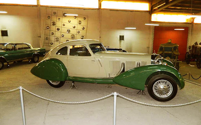 An old classic car in National car museum of Iran.