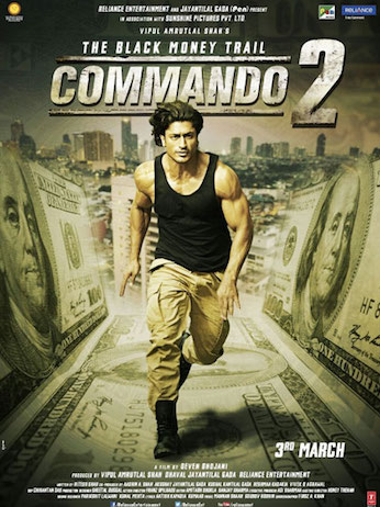 Commando 2 2017 Hindi 350MB Pre-DVDRip 480p