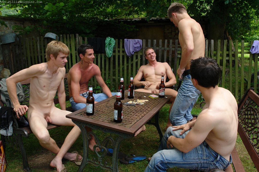 Gay twinks striped and fucked free bareback 2