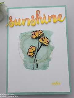 Sunshine Wishes card. Inspire Create Stamping Challenge 18