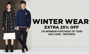 Winter Wear for Men's & Women's – Upto 60% Off  + Extra 25% Off @ Jabong