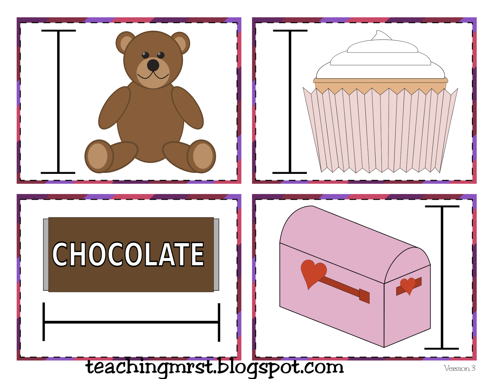 Valentine Day Math Pack Graphing Fractions Desenhos Para