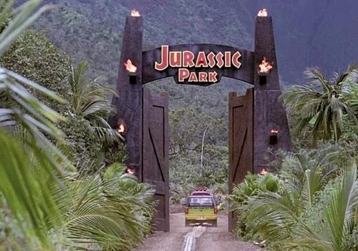 Jurassic Park 1993. Entrata del parco