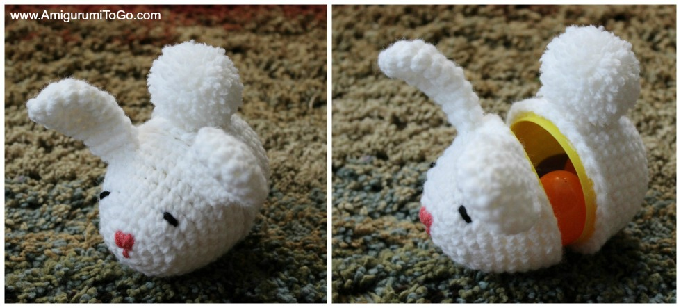 Easter Egg Bunny Surprise With Or Without Egg Amigurumi To Go