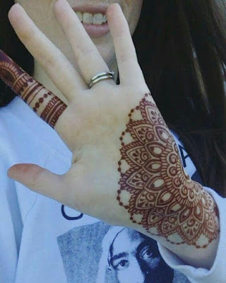 simple and easy mehndi designs for left hand