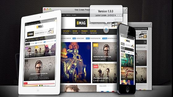 قالب بلوجر BMAG نموذج Blogger المستجيب للمجلات
