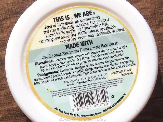 Utama Spice Temu-Temu Face Mask Ingredients