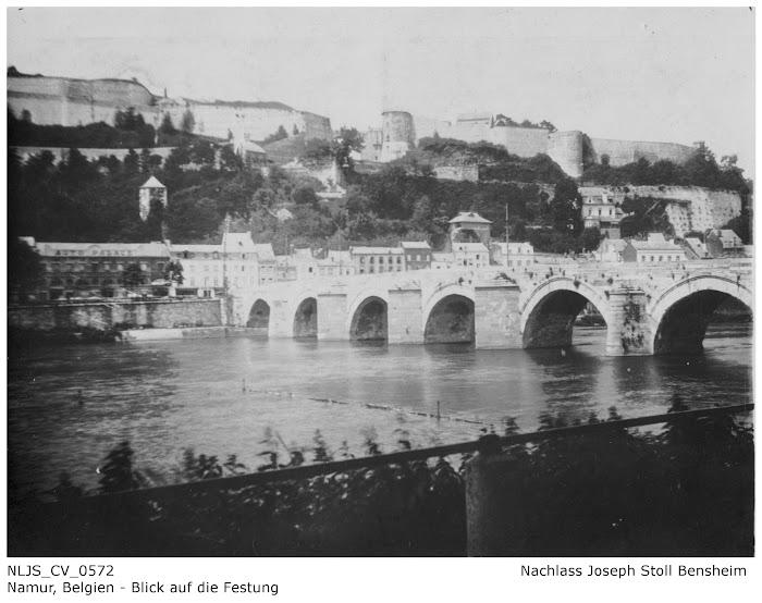 NLJS_CV_0572 Blick auf die Festung Namur; Nachlass Joseph Stoll Bensheim, Stoll-Berberich 2016