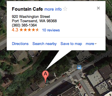 Map to Fountain Cafe