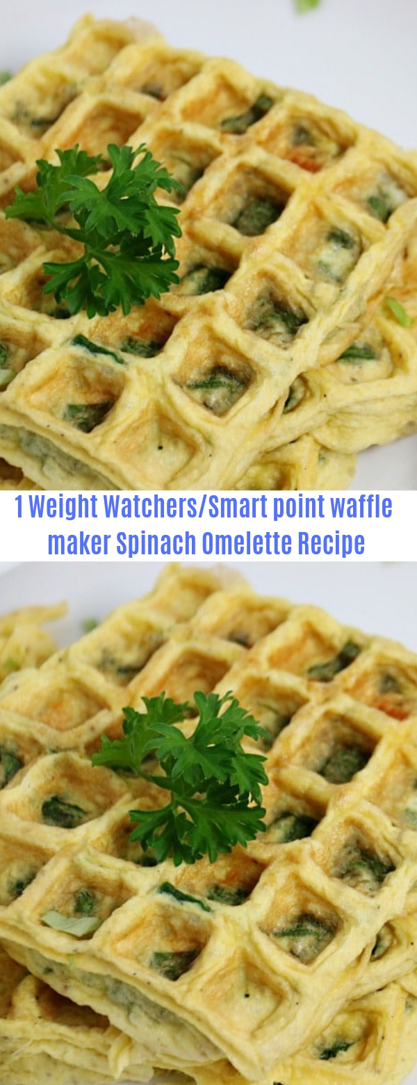 1 weight watchers/smart point waffle maker Spinach Omelette Recipe