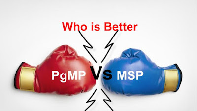 Who is Better PgMP Vs MSP
