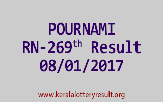 POURNAMI RN 269 Lottery Results 8-1-2017