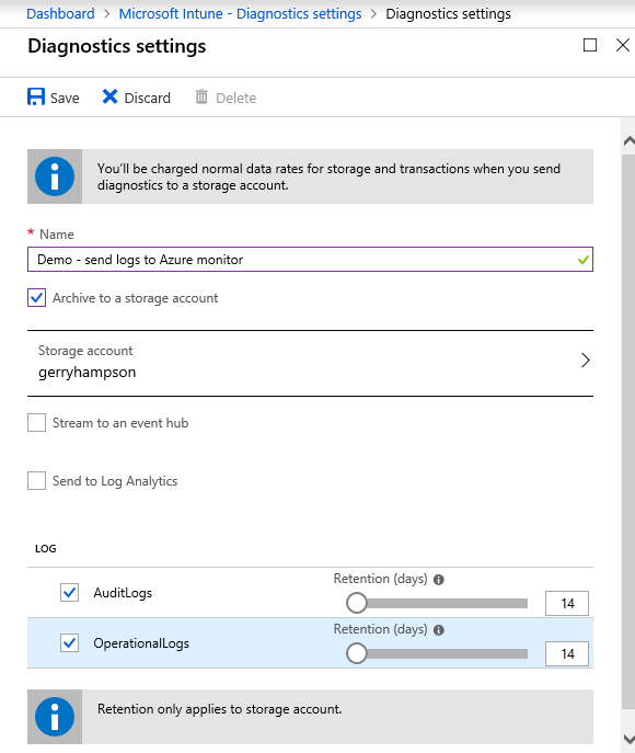 Gerry Hampson Device Management: Intune Support for Azure Monitor