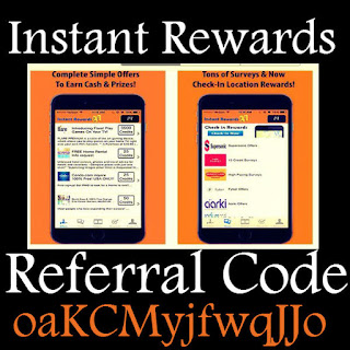 InstantRewards Bonus Code, Instant Rewards App Referral Code, InstantRewardsApp.com Promo Codes