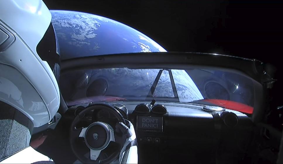 Elon Musk's Tesla Roadster Trip To Mars Streaming