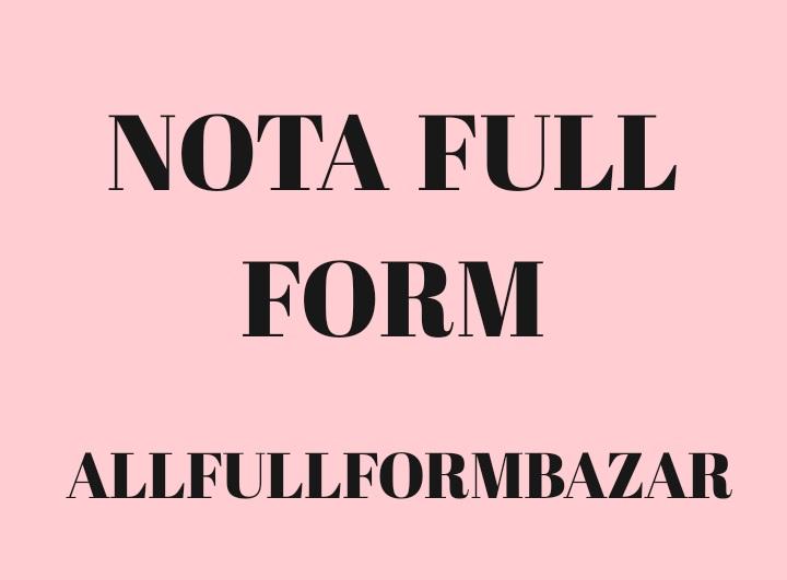 nota full form