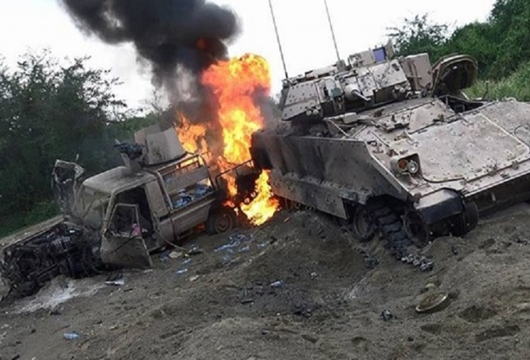 10 Kendaraan Tempur Saudi di Najran Diledakkan