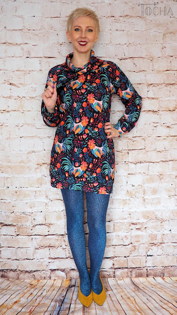 rooster, jumper, dress, tunic, dresowka.pl, sweatshirt, Easter, floral, chimney collar, raglan sleeve,