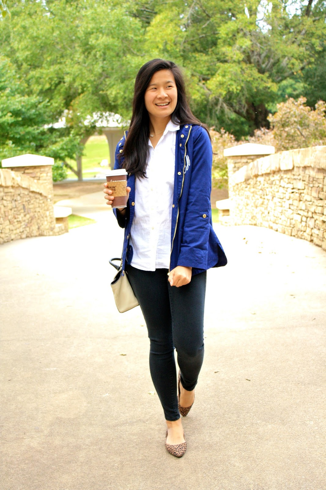 Marley Lilly Monogram jacket - Classic fall outfit inspiration