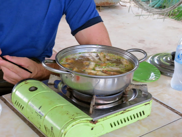 Muscovy Duck Soup on a Siem Reap Street Food Tour in Cambodia