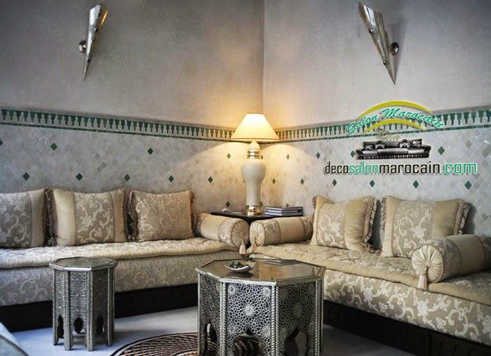 decoration salon marocain moderne beige. Black Bedroom Furniture Sets. Home Design Ideas