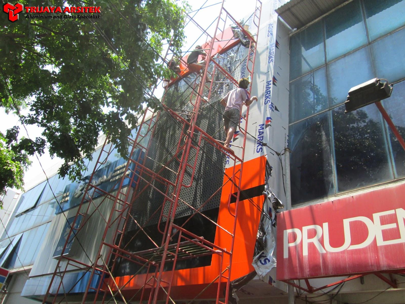 Aluminium Composite Panel, Facade, Letter, Letter Stainless, Neon Box, Proyek Surabaya